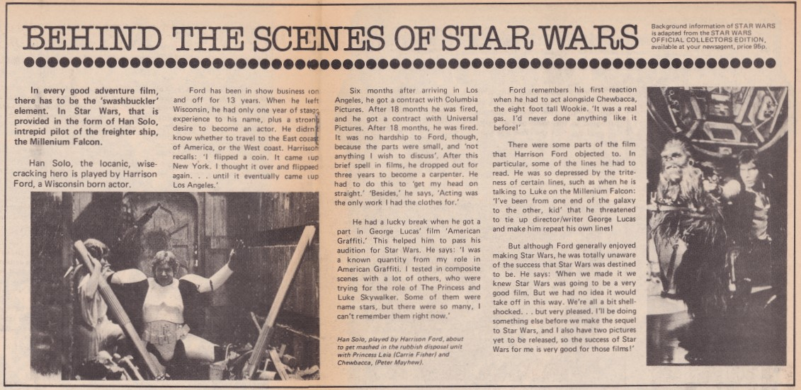 Star Wars Weekly Issue 6 - Behind the Scenes of Star Wars