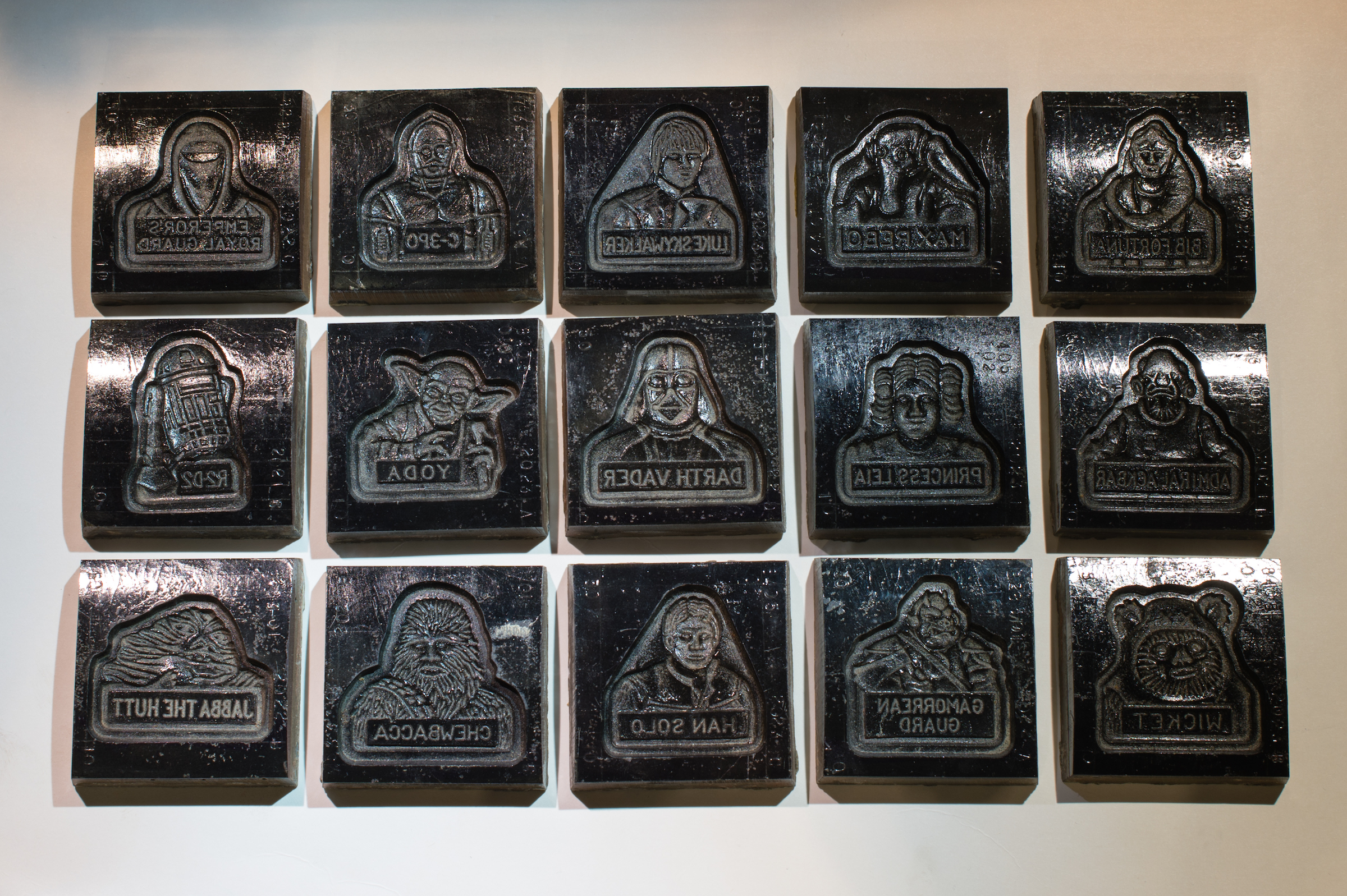 Cookie molds depicting various characters from Star Wars