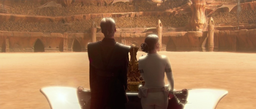 Attack of the Clones - Anakin and Padme in the Geonosis Arena