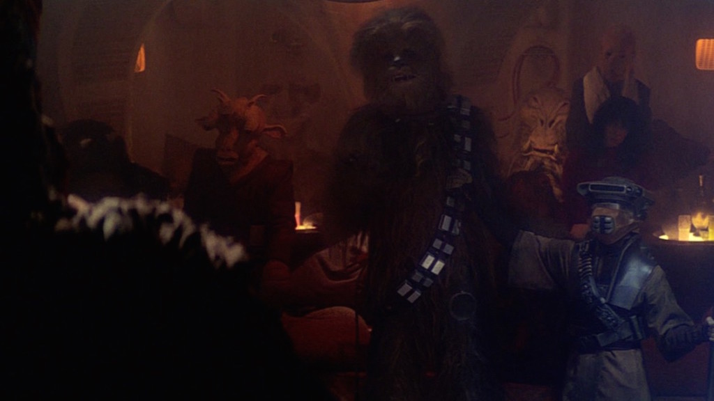 Return of the Jedi - Ree-Yees (on the left) and J'Quille (on the right)