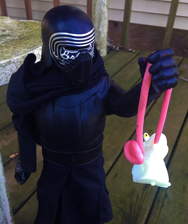 Kylo Ren with Jar Jar Sticky Tongue Toy