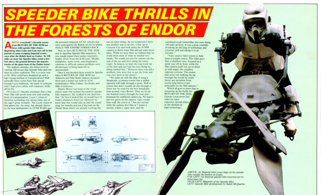 Return of the Jedi Poster Magazine #3 - Speeder Bike article