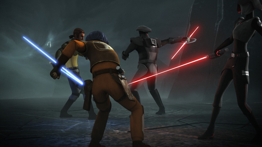 Star Wars Rebels - Kanan and Ezra vs. Inquisitors