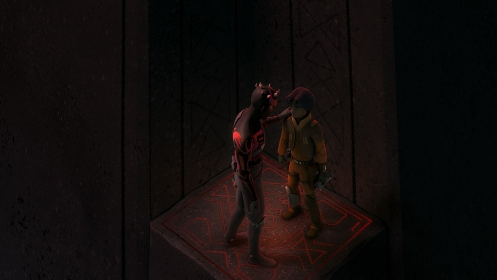 Star Wars Rebels - Maul and Ezra moving up the Sith Temple