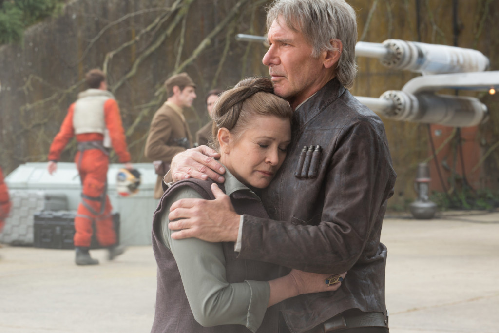 The Force Awakens - Han and Leia reunite