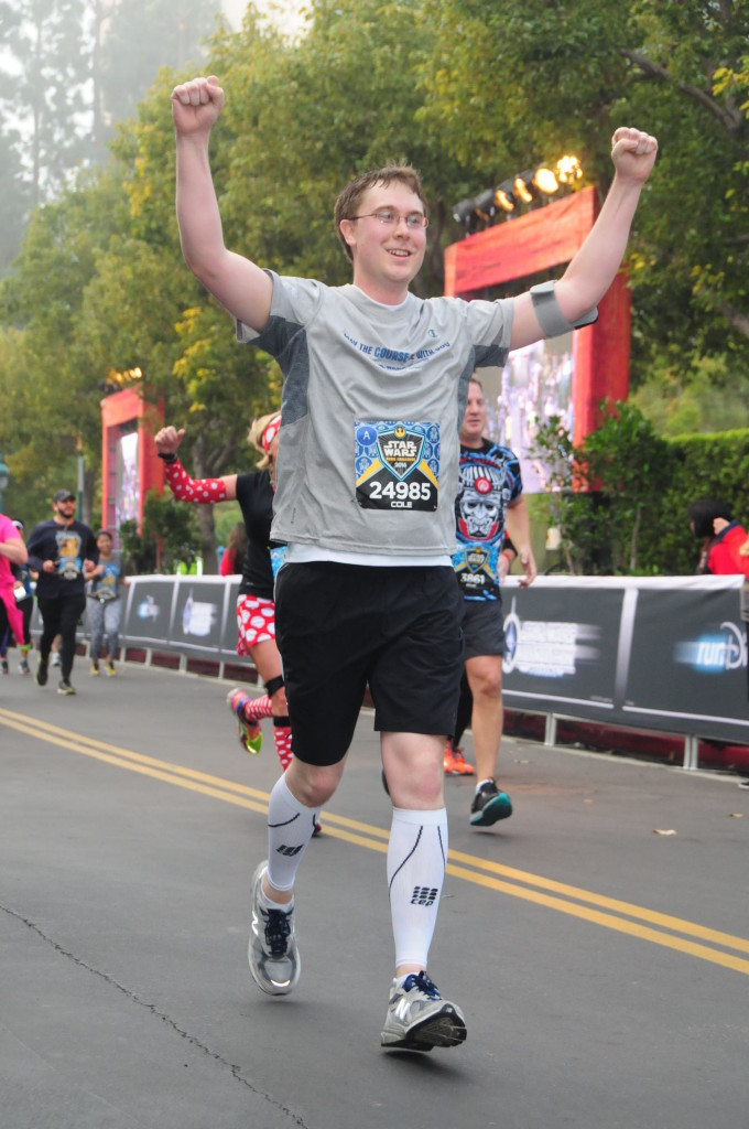 runDisney Star Wars - Cole Horton running