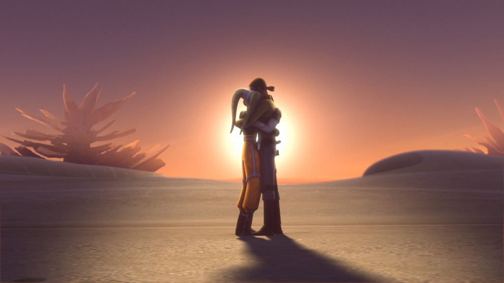 Star Wars Rebels - Hera and Kanan hugging