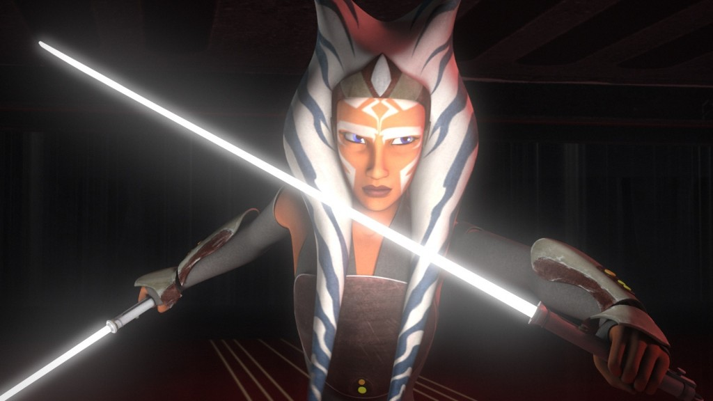 Star Wars Rebels - Ahsoka preparing to face Vader