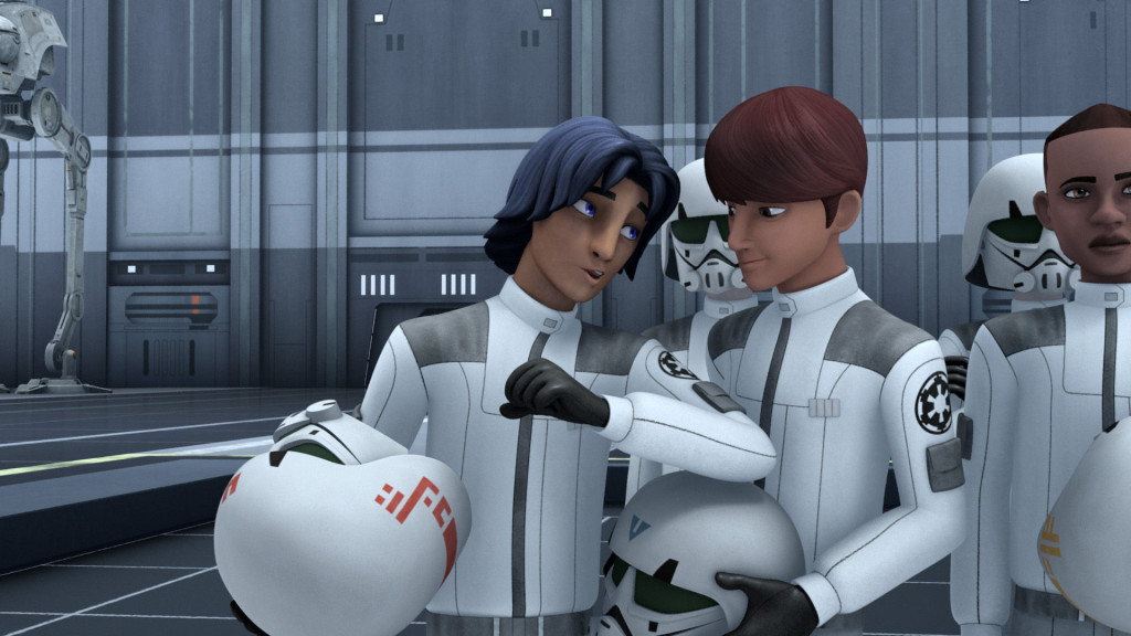 Star Wars Rebels - Ezra Bridger posing as an Imperial Cadet