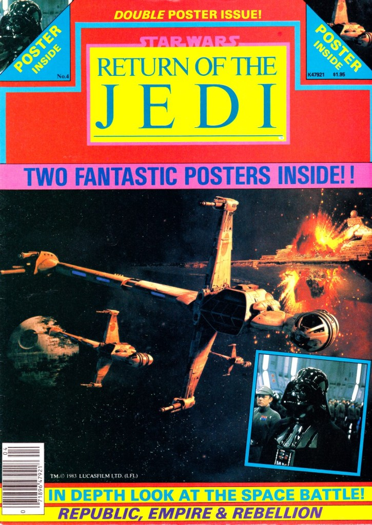 Return of the Jedi poster magazine #4 cover