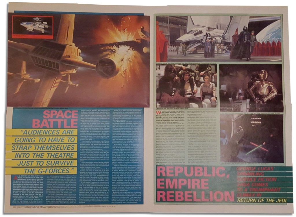Return of the Jedi poster magazine - Space Battle