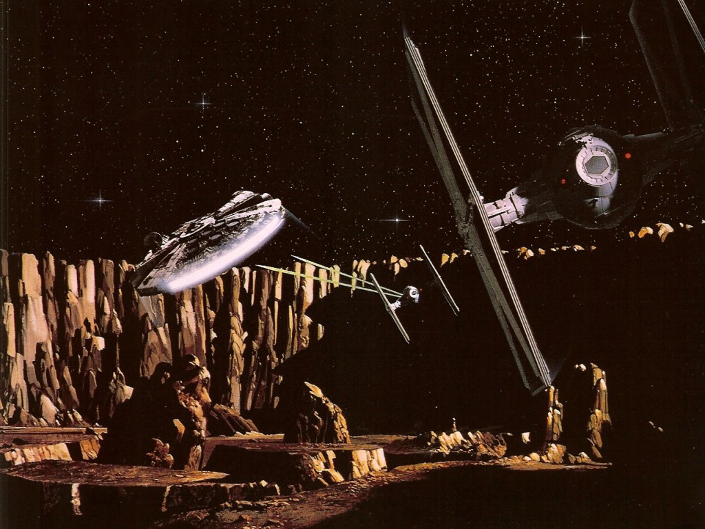The Empire Strikes Back - The Millennium Falcon in the asteroid field