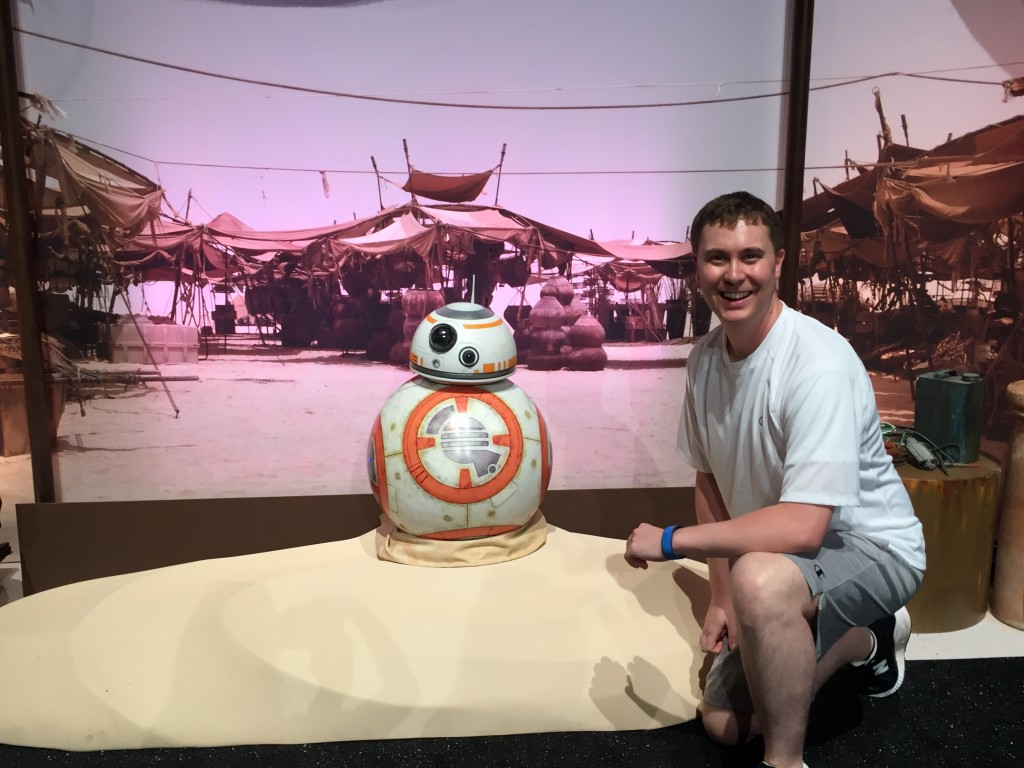 Cole Horton with BB-8