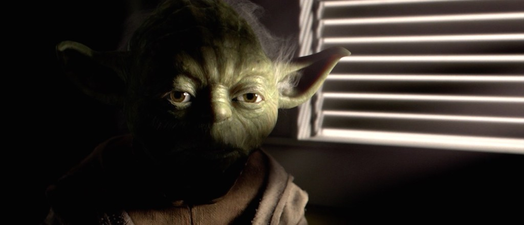Revenge of the Sith - Yoda in the Jedi Temple talking with Yoda