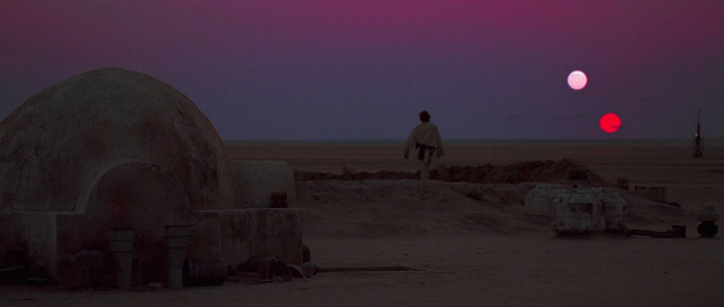 A New Hope - Luke watching the binary sunset