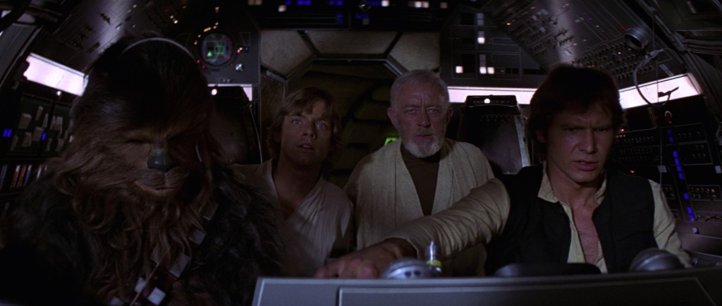 A New Hope - Chewie, Luke, Obi-Wan, and Han on the Millennium Falcon