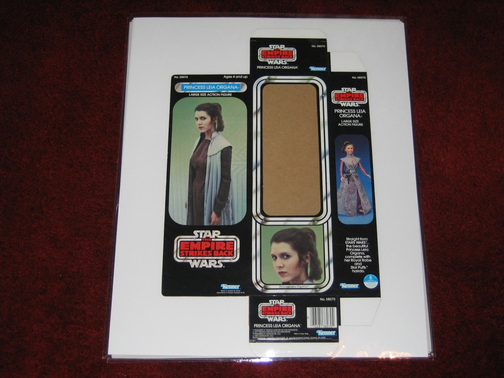 Kenner packaging featuring Leia Organa
