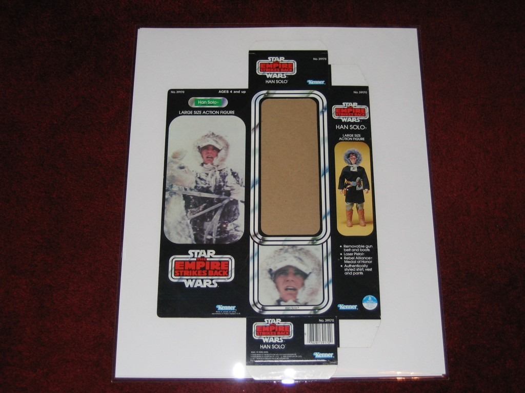 Kenner packaging featuring Han Solo