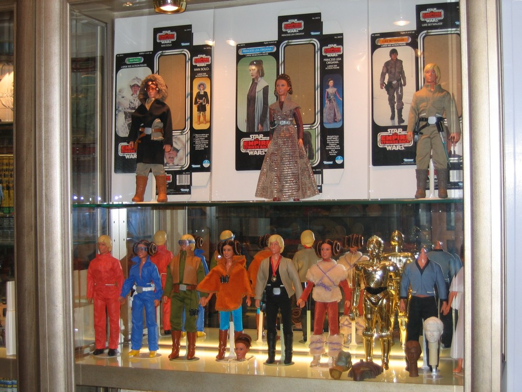 Kenner's Unreleased Large Size Action Figures Display