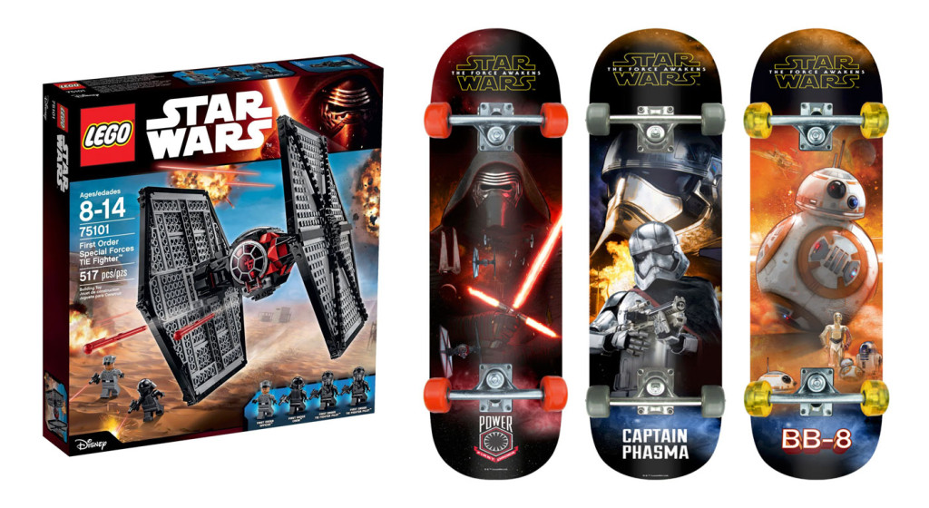 Star Wars IMS Skateboards and LEGO TIE fighter