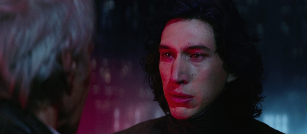 The Force Awakens - Kylo Ren talking to Han Solo