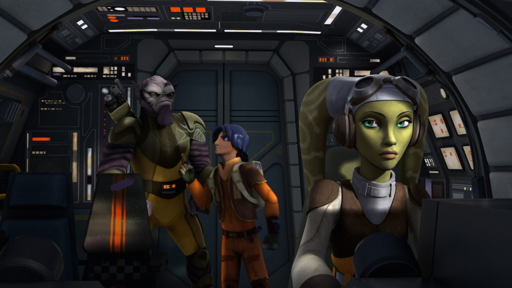 Star Wars Rebels - Zeb and Ezra arguing