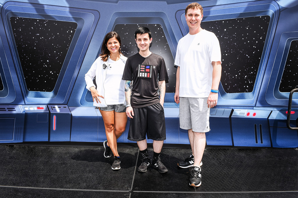 Cole, Matt, and Aubrey at runDisney