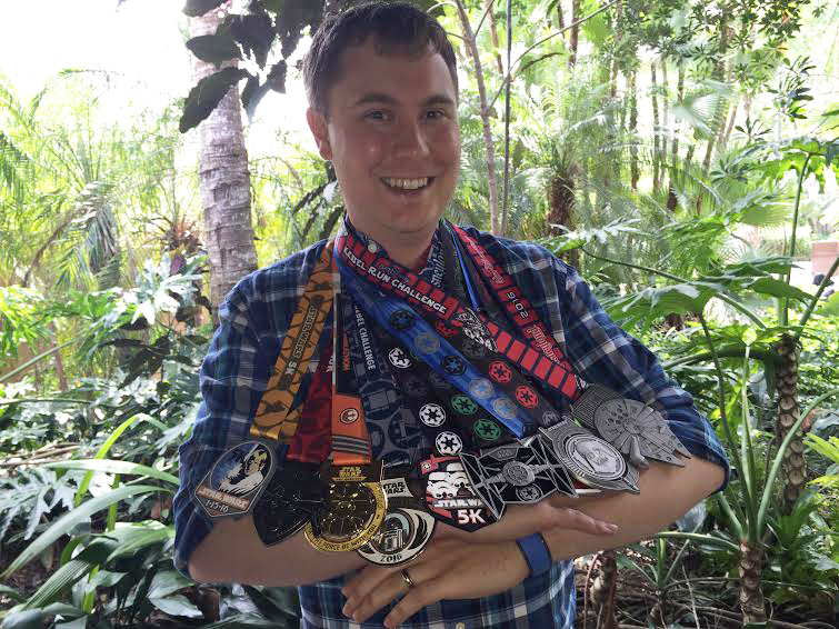 runDisney - Cole Horton with his medals