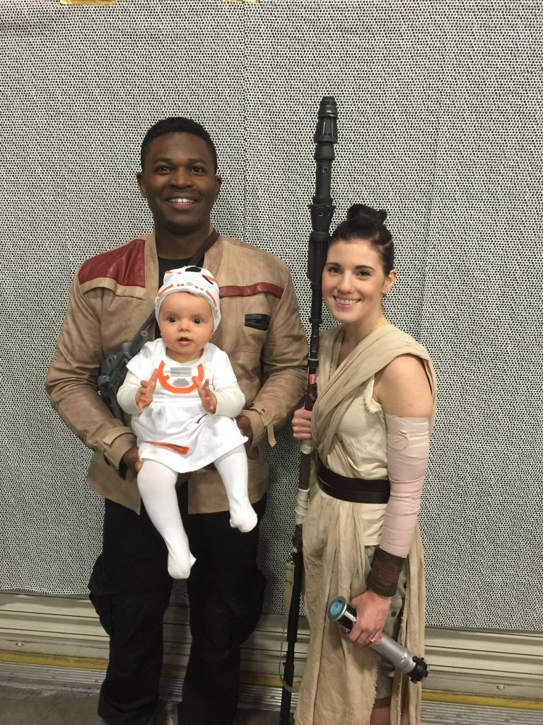 Victor and Julianne as Finn and Rey