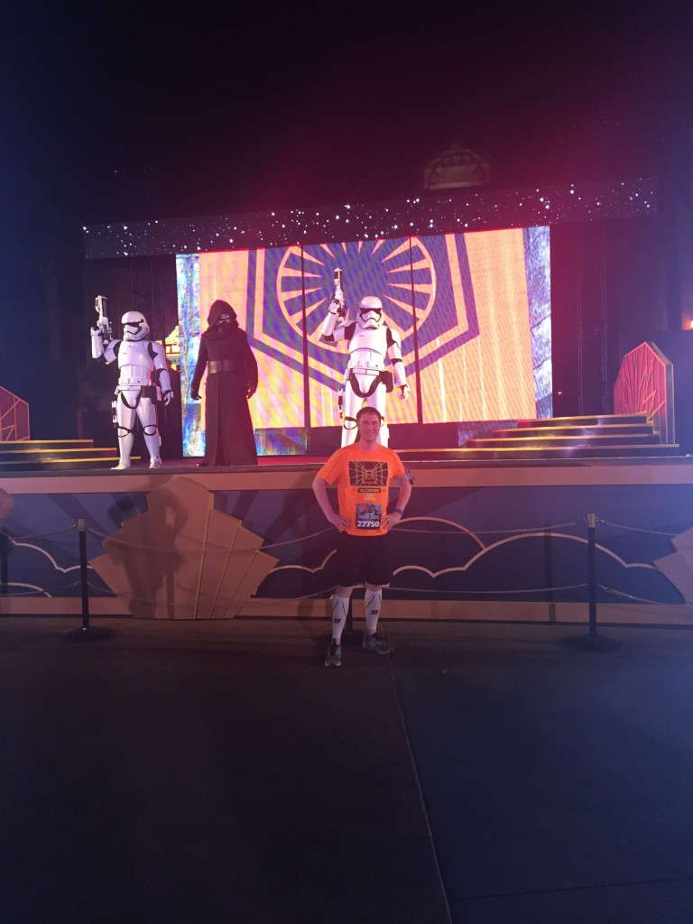 runDisney - Cole Horton with Kylo Ren