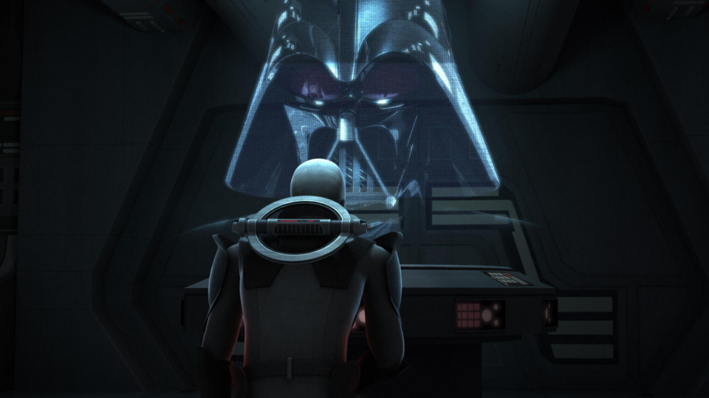 Star Wars Rebels - The Grand Inquisitor talking to Darth Vader