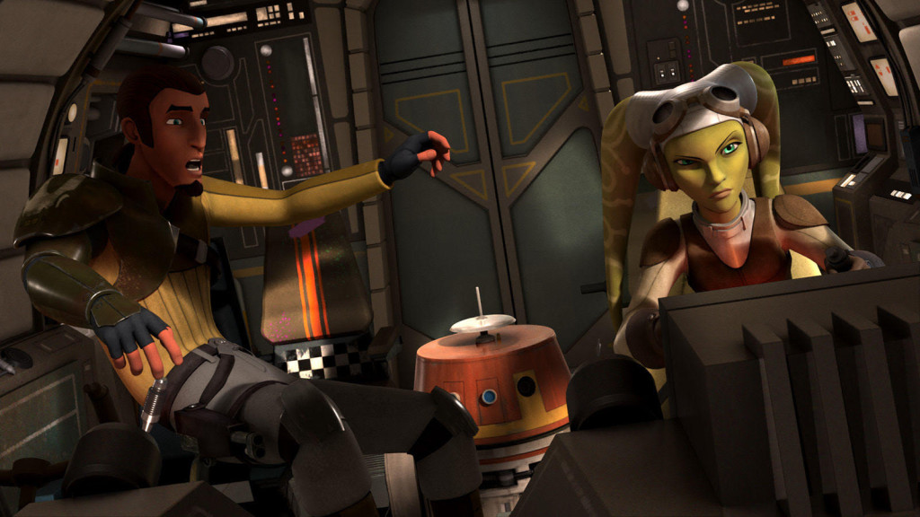 Star Wars Rebels - Hera flying the Ghost