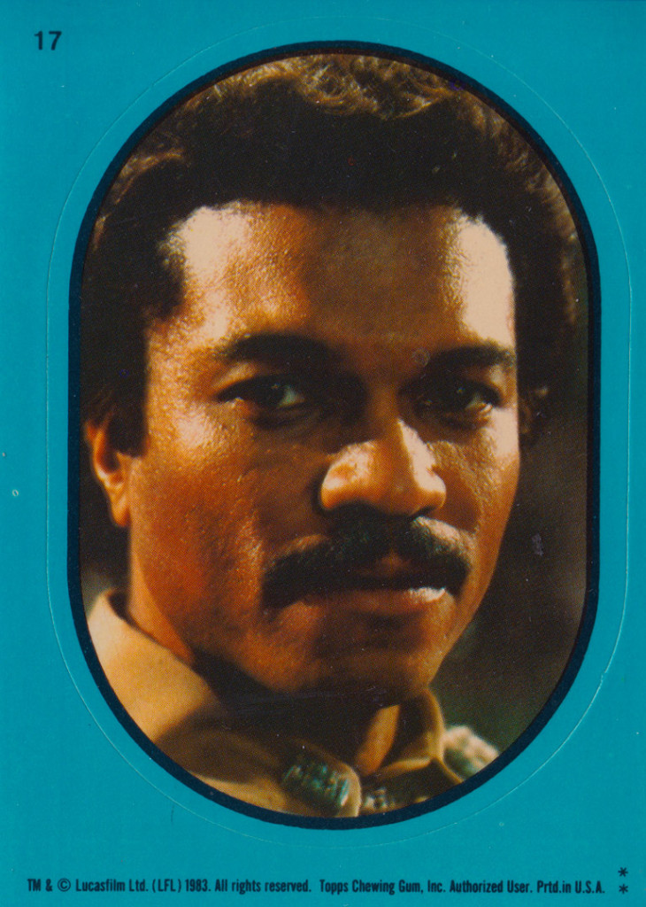 Lando Sticker from Return of the Jedi Vintage Trading Cards