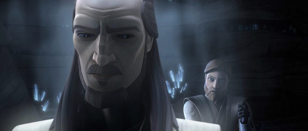 The Clone Wars - Qui-Gon's ghost with Obi-Wan