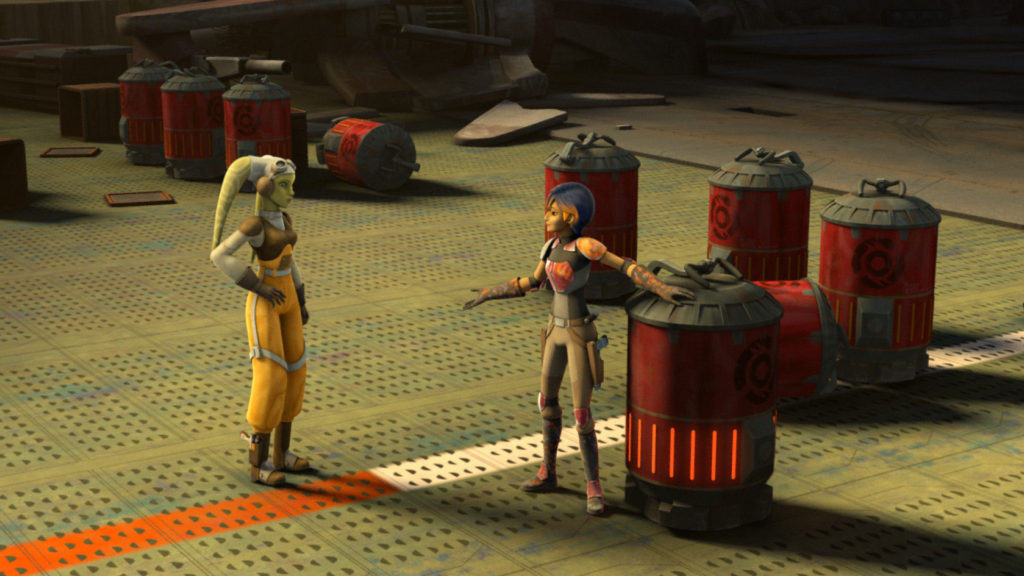 Star Wars Rebels - Hera and Sabine picking up Rhydonium