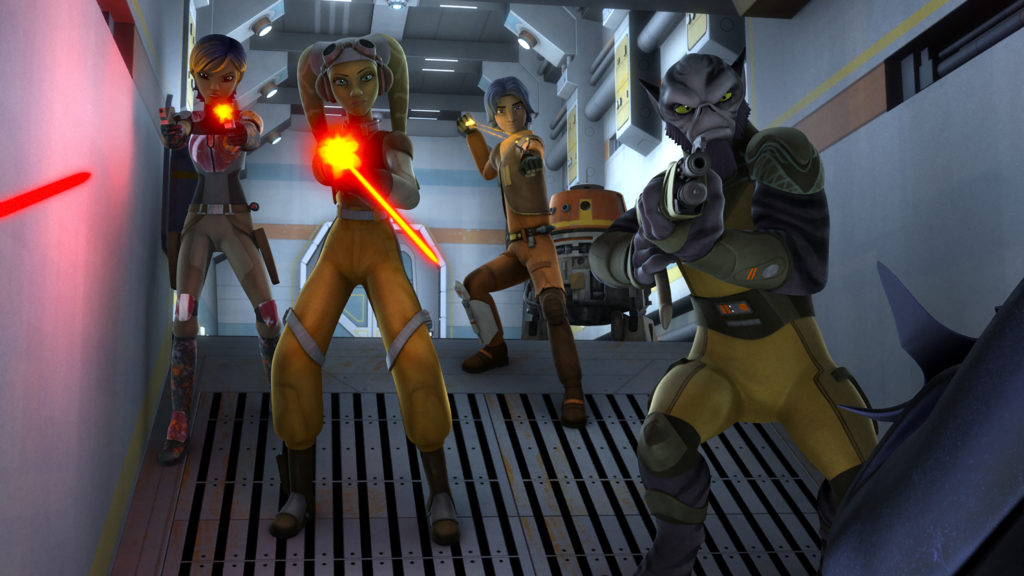 Star Wars Rebels - The Ghost crew takes on some Fyrnocks