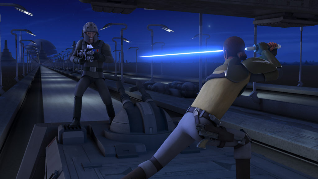 Star Wars Rebels - Kanan fighting Kallus
