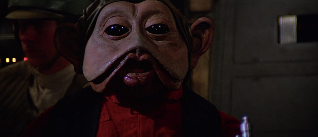 Nien Nunb on the Falcon in Return of the Jedi