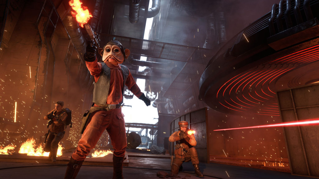 Star Wars Battlefront Outer Rim - Nien Nunb in the Smelting Pits