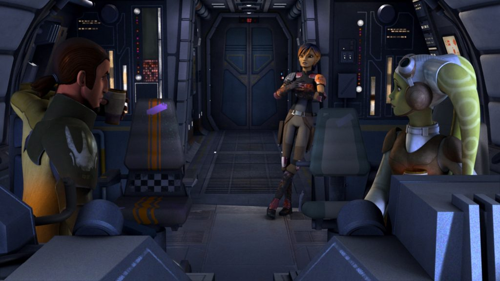 Star Wars Rebels - Kanan, Sabine, and Hera talk about Fulcrum