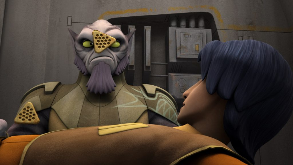 Star Wars Rebels - Zeb with waffles on his face