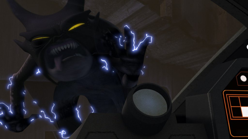 Star Wars Rebels - A Frynock gets zapped by the Ghost