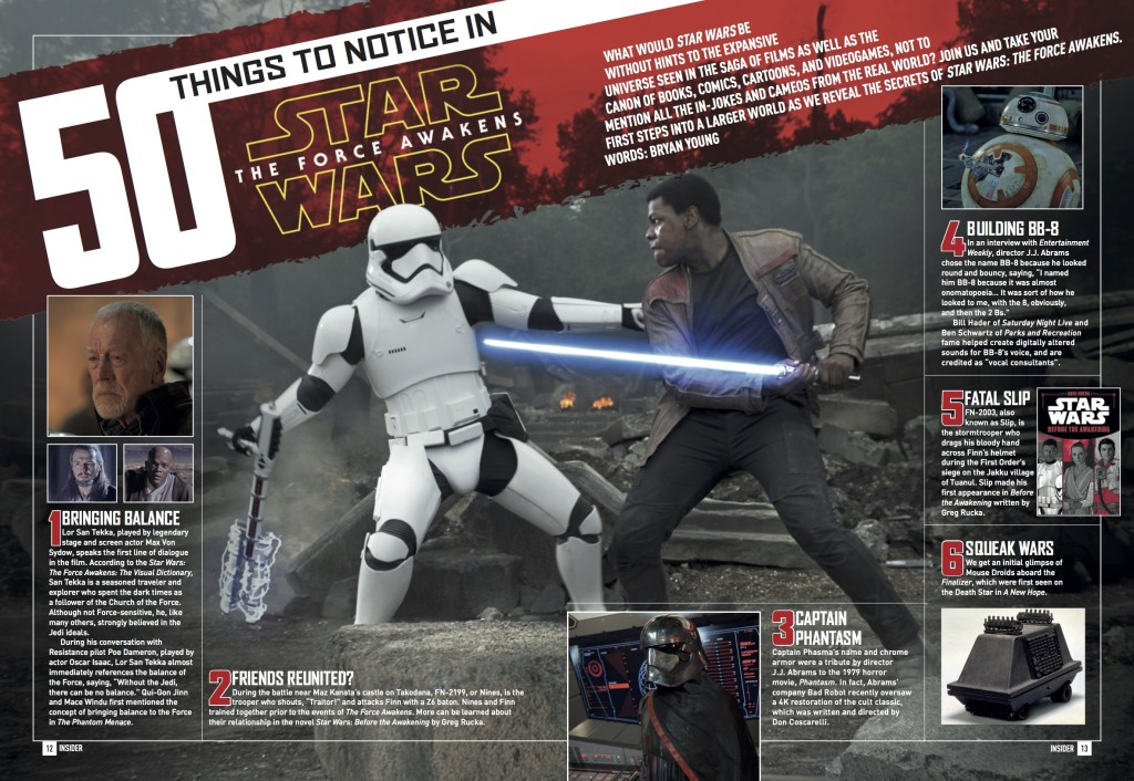 Star Wars Insider 165 - 50 Things To Notice In Star Wars: The Force Awakens