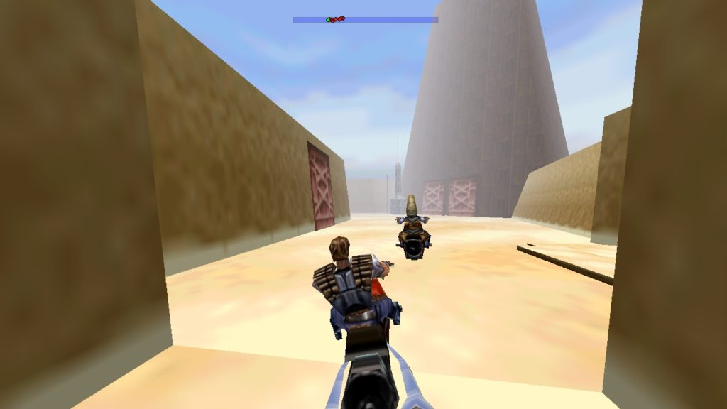 Shadows of the Empire - Biker chase on Tatooine