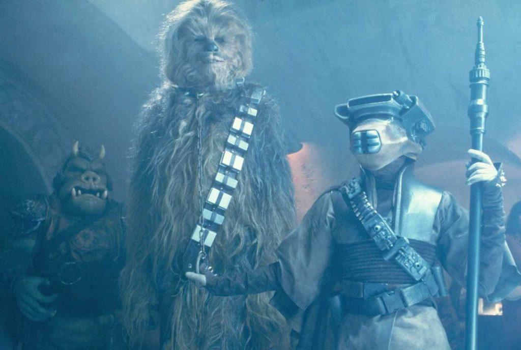 Return of the Jedi - Chewie and Leia at Jabba The Hutt's Palace to save Han