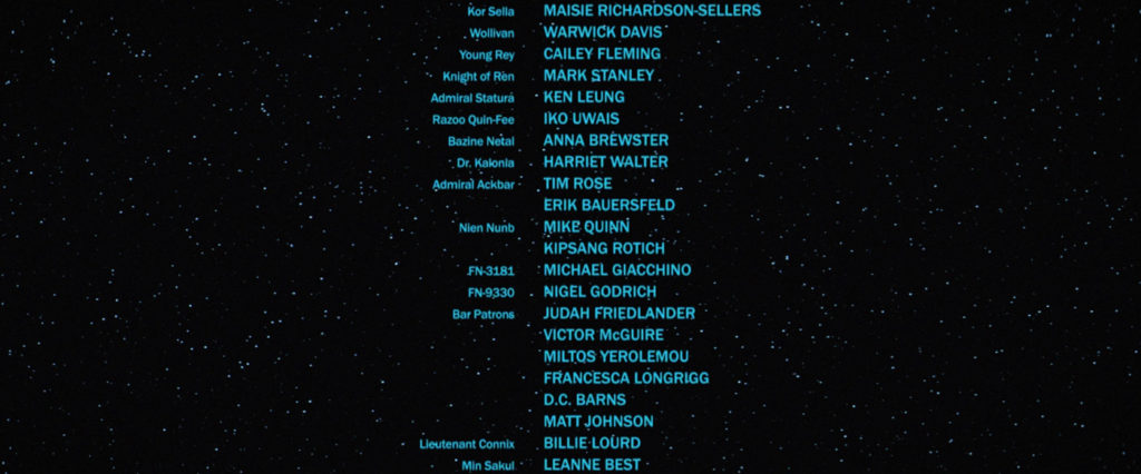 The Force Awakens - End Credits