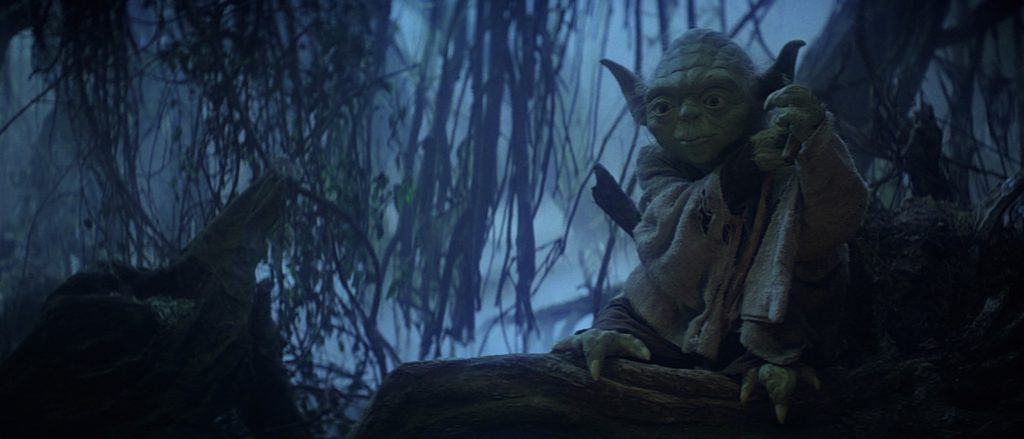 The Empire Strikes Back - Luke meets Yoda for the first time