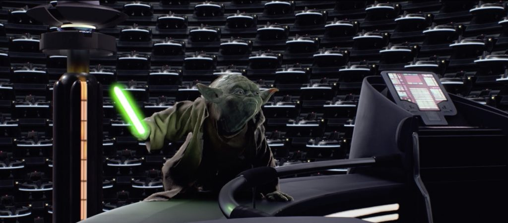 Revenge of the Sith - Yoda fighting the Emperor