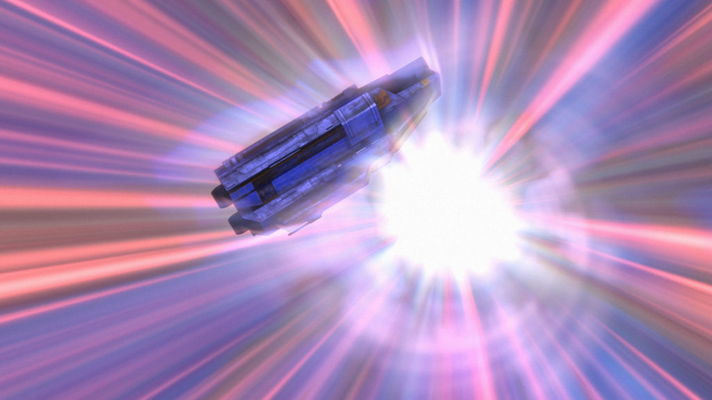 Star Wars Rebels - The Ghost in hyperspace