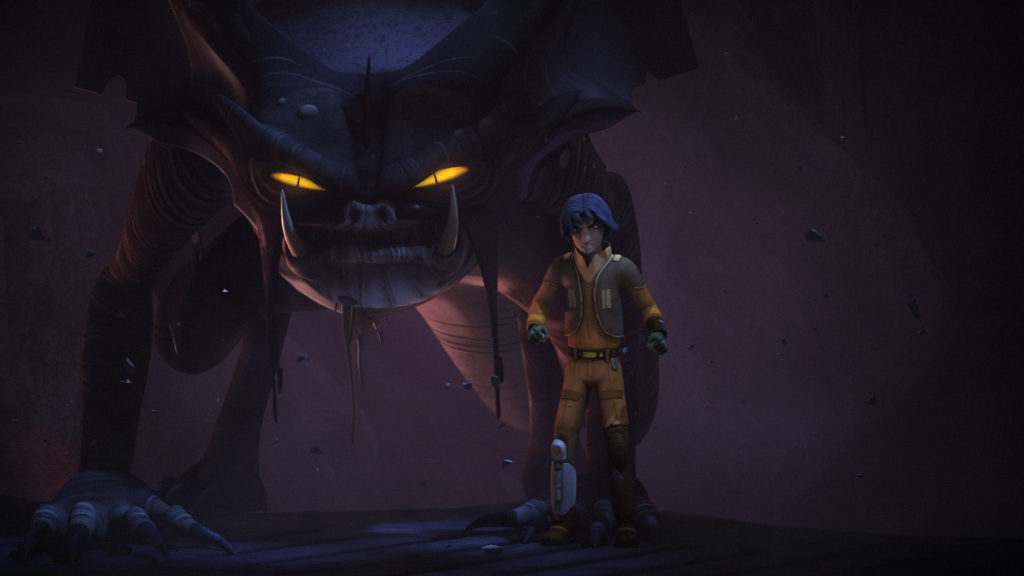Star Wars Rebels - Ezra with a Fyrnocks